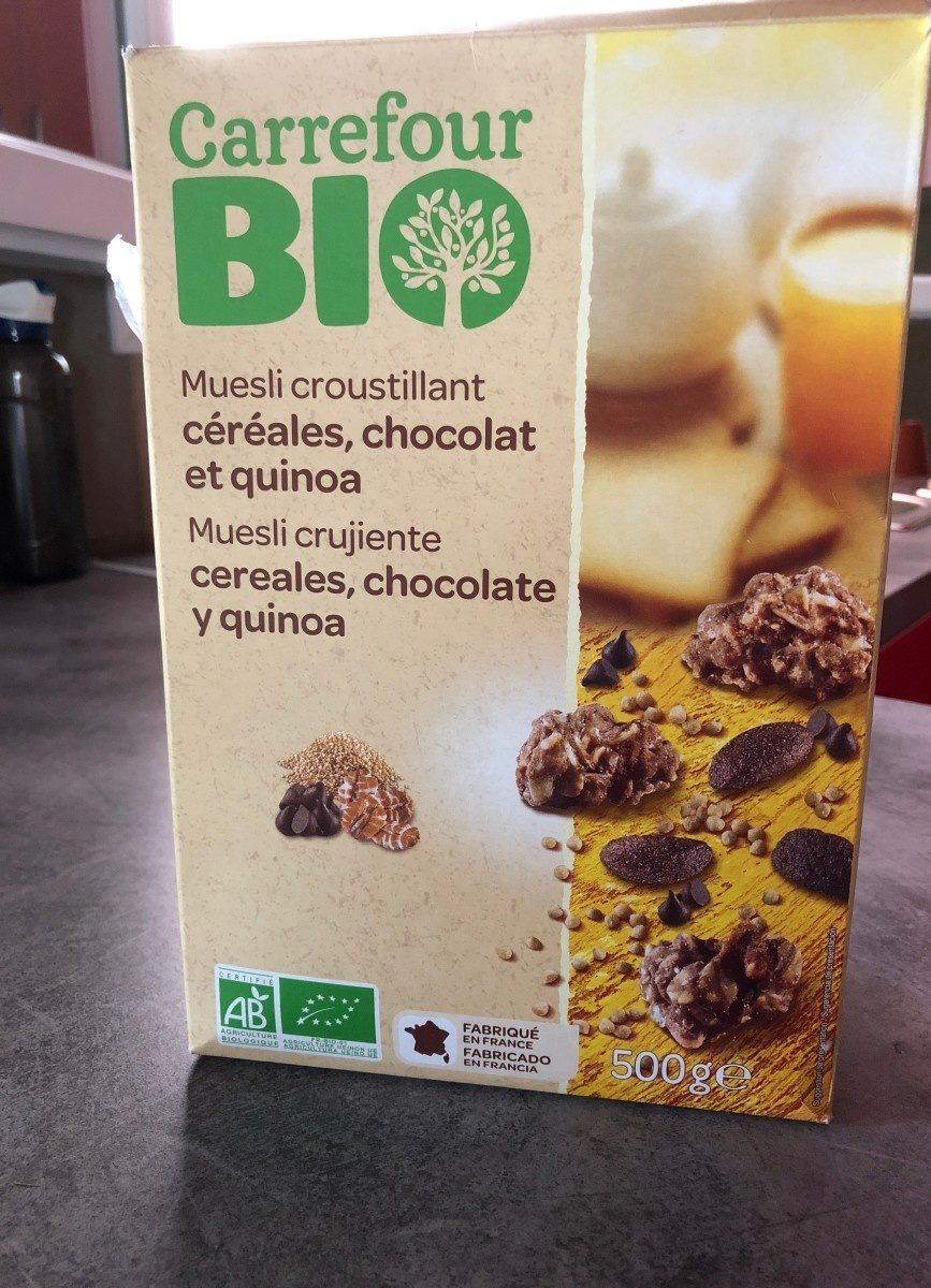 Muesli Croustillant céréales, chocolat et quinoa - Producto