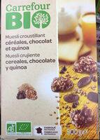 Muesli croustillant céréales, chocolat et quinoa - Producte - fr