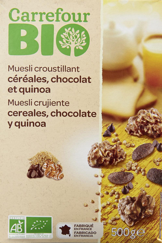 Muesli Croustillant céréales, chocolat et quinoa - Producto - fr