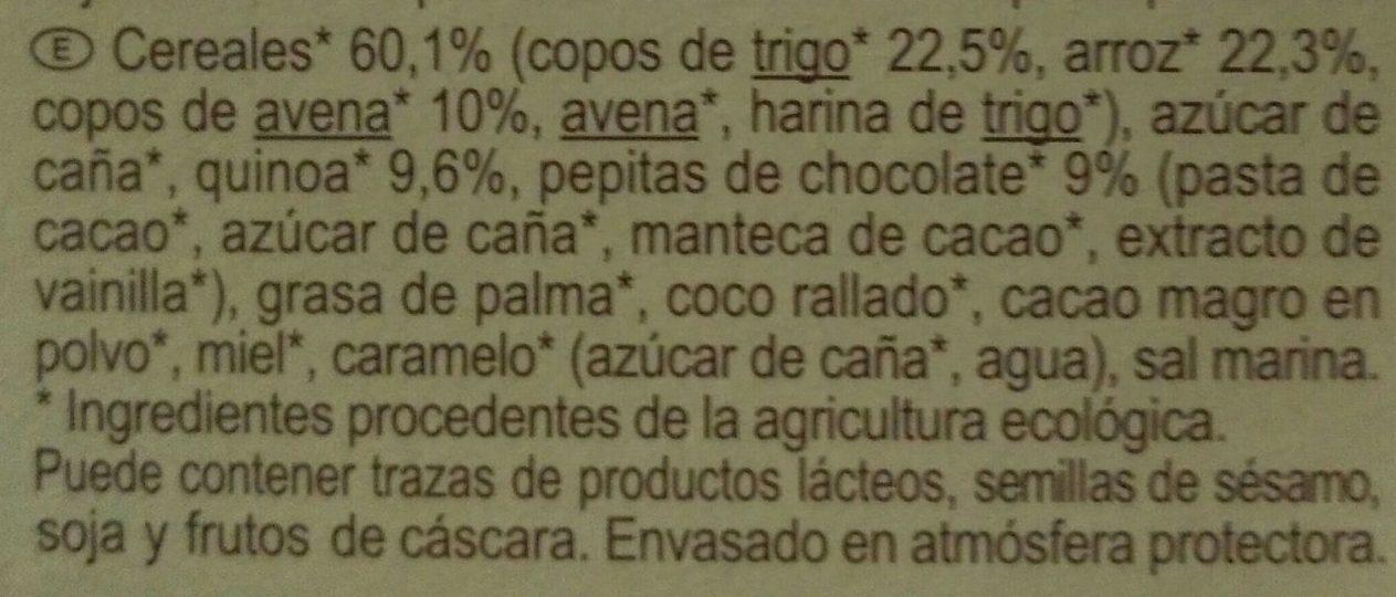 Muesli Croustillant céréales, chocolat et quinoa - Ingredientes