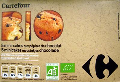 5 mini-cakes aux pépites de chocolat Bio - Product