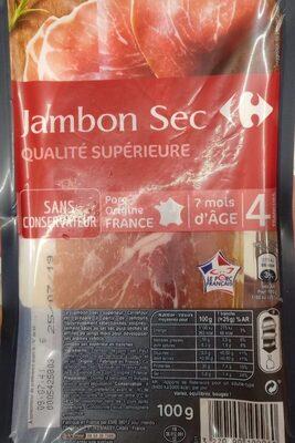 Jambon sec Qualité supérieure - Produit