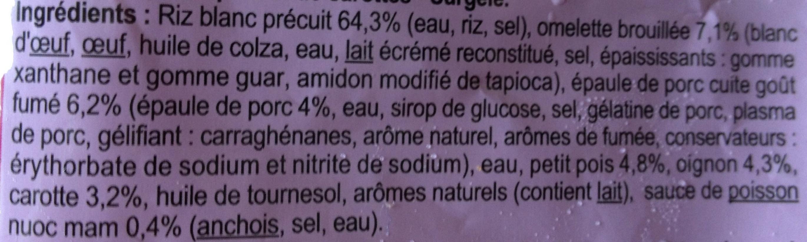 Riz cantonais - Ingredientes - fr