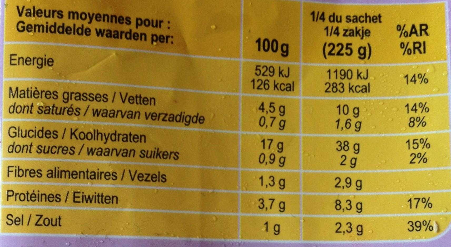 Riz cantonais - Información nutricional - fr