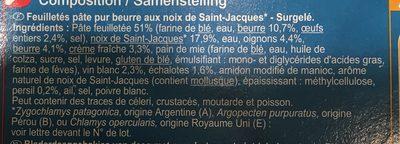 Panier Feuilleté aux Noix de Saint-Jacques - Ingrediënten - fr