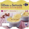 Gâteaux de semoule aux raisins sur lit de caramel - Prodotto