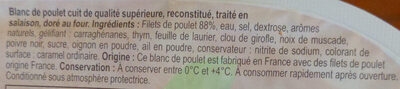 Blanc de poulet Doré au Four - Ingrédients - fr