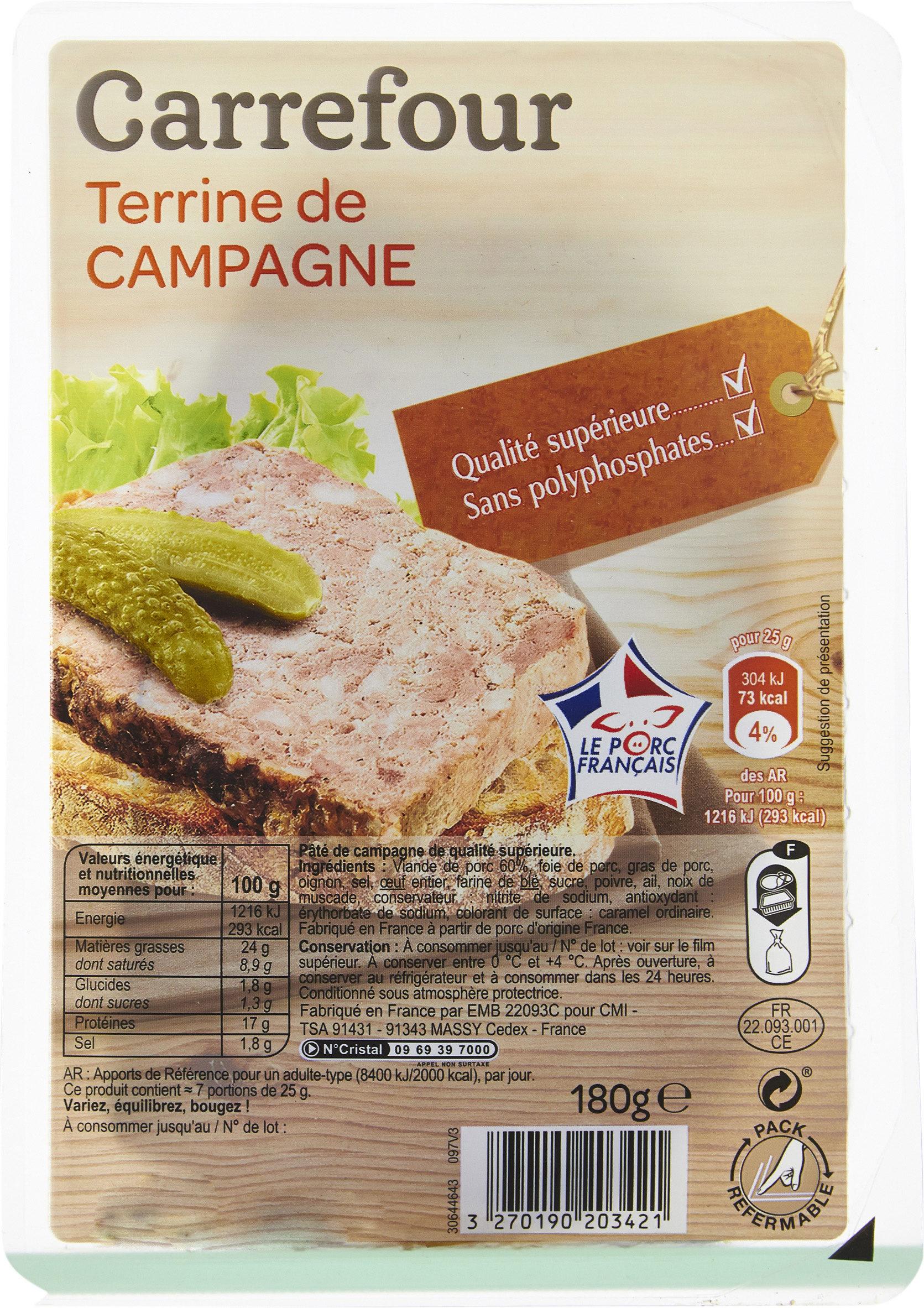 Pâté de campagne - Produit - fr