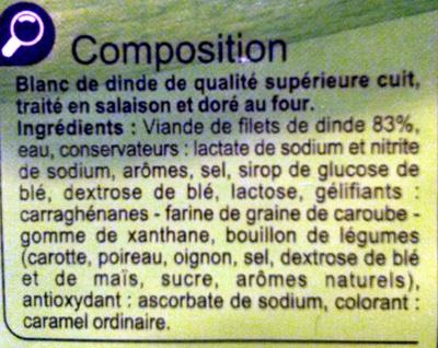 Blanc de dinde - Ingrediënten - fr