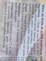 Blanc de dinde - Ingredients - fr