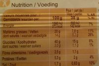 Pâte feuilletée - Valori nutrizionali - fr