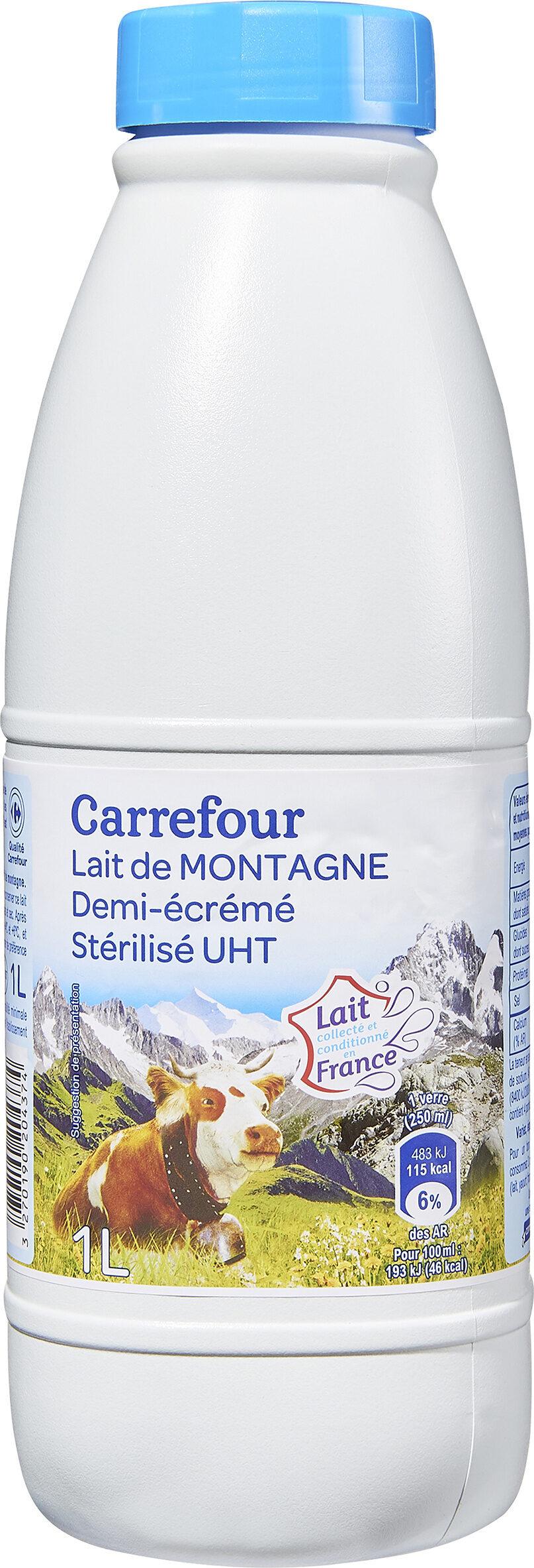Lait de Montagne demi-écrémé stérilisé UHT - Product - fr