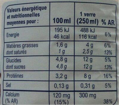 Lait de Montagne demi-écrémé stérilisé UHT - Nutrition facts - fr