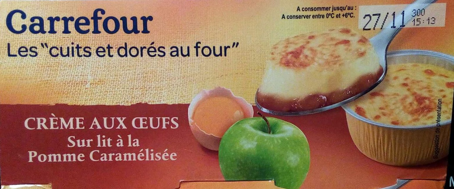 Crème aux œufs sur lit à la pomme caramélisée - Product