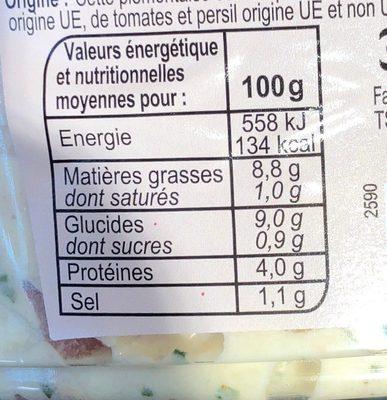 Piémontaise - Informations nutritionnelles - fr