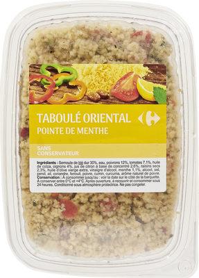 Taboulé oriental Pointe de menthe - Produit - fr