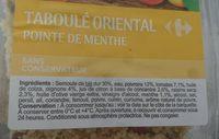 Taboulé oriental Pointe de menthe - Ingrédients - fr