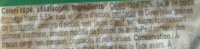 Céleri rémoulade au fromage blanc - Ingrédients - fr