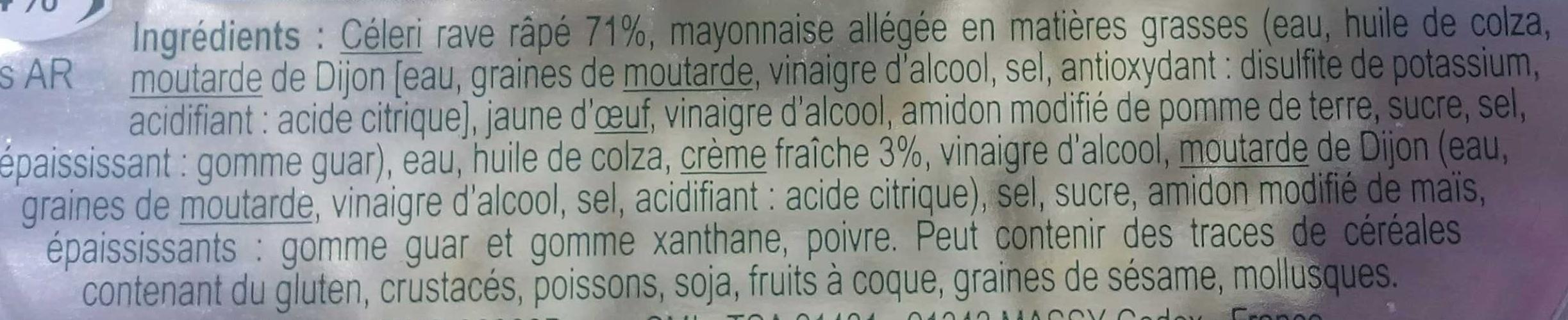 Céleri sauce rémoulade - Ingrédients - fr