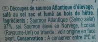 Lardons de saumon fumé - Ingredients