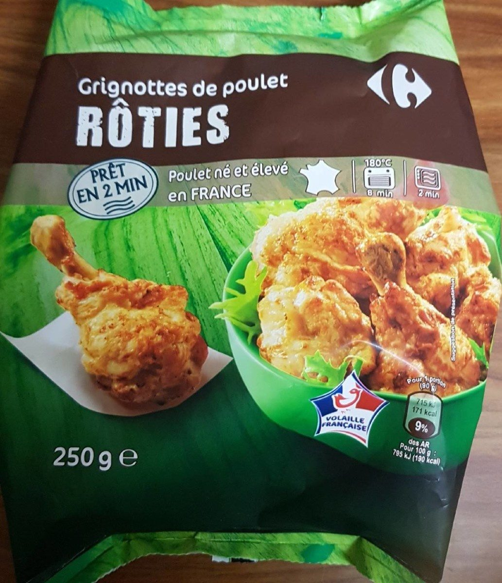 Grignottes de poulet Roties - Nutrition facts - fr