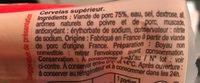 Cervelas Pur Porc - Ingrediënten - fr
