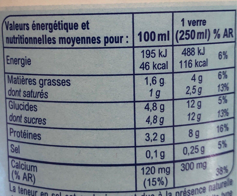 Lait de montagne demi écrémé - Valori nutrizionali - fr