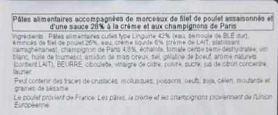 Linguine et poulet - Ingrédients - fr