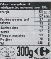 Linguine et poulet - Informations nutritionnelles - fr