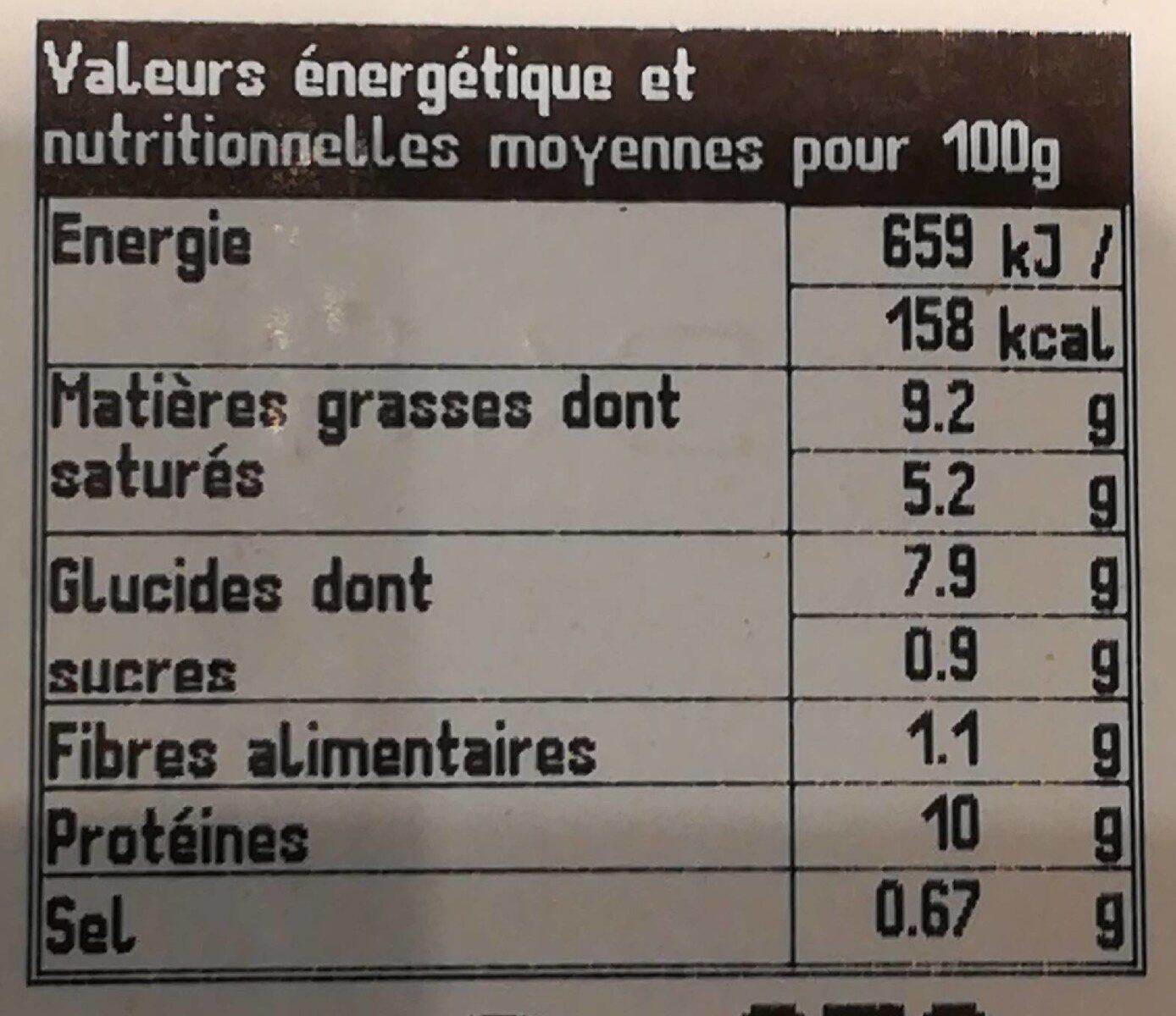 Pavé de Saumon et Tagliatelles - Voedingswaarden - fr
