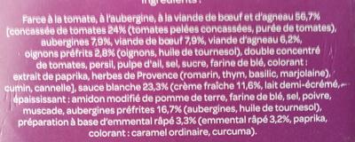 Moussaka au boeuf et à l'agneau - Ingrédients - fr