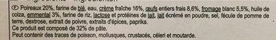 Tarte Poireaux - Ingredients - fr