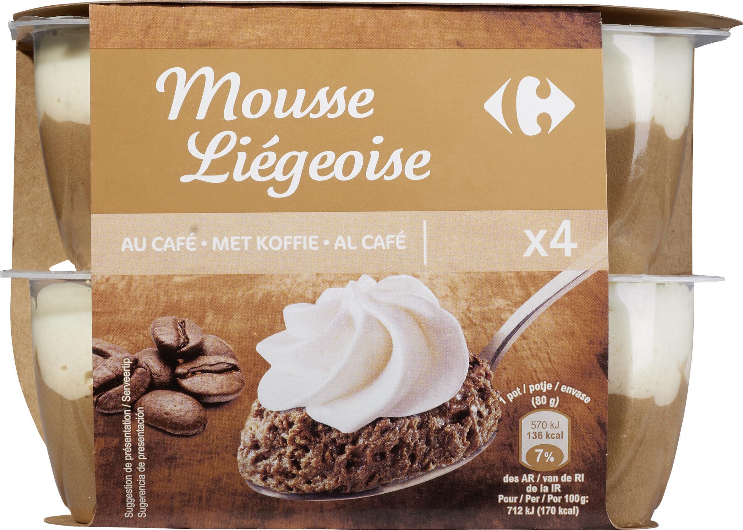 Mousse liégeoise à la crème fraîche Café - Producte - fr