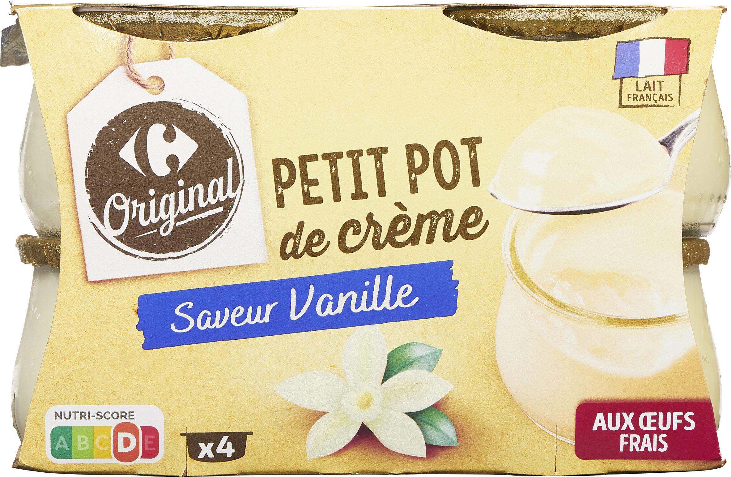 Nos petits pots de crème Saveur Vanille - Produit - fr