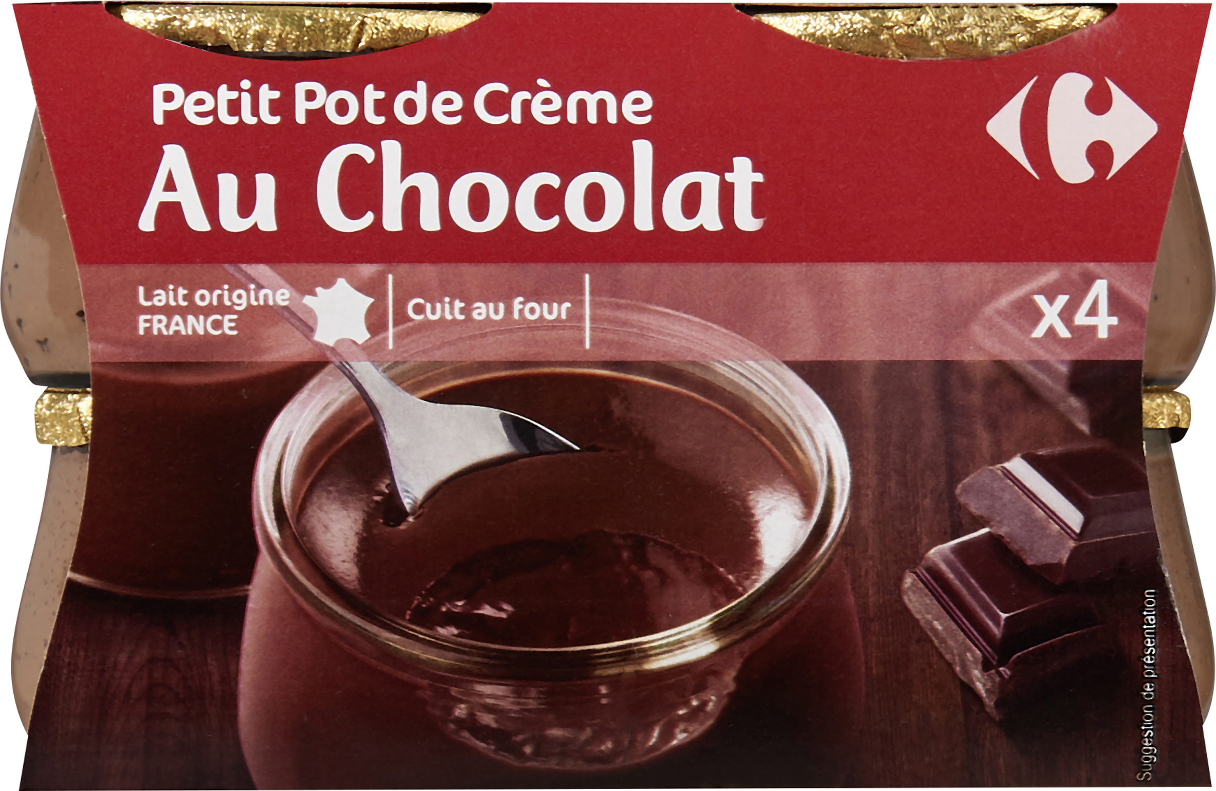 Petit Pot De Creme Au Chocolat Carrefour 4 X 100 G