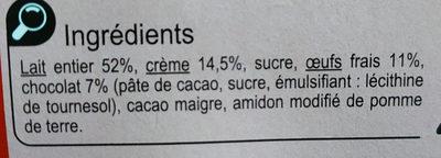 Petit Pot de Crème  Au Chocolat - Ingrédients - fr