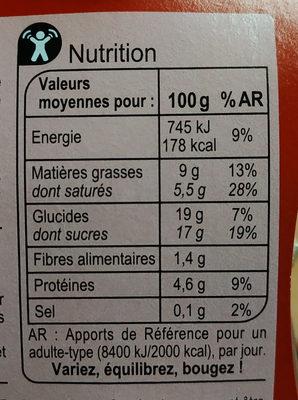 Petit Pot de Crème  Au Chocolat - Informations nutritionnelles - fr