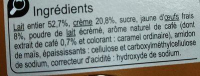 Petit Pot de Crème au Café - Ingrédients