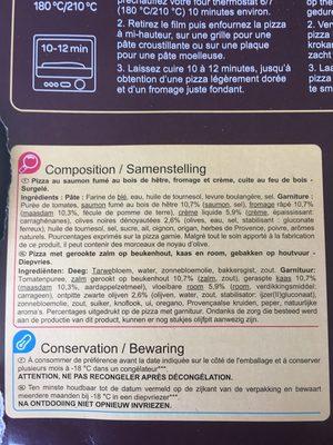 Saumon Fumé Cuite Au Feu De Bois Surgelée - Ingredients