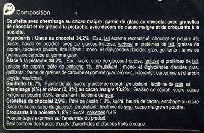 Chocolat Pistache - Ingredients - fr