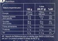 Chocolat Pistache - Nutrition facts - fr