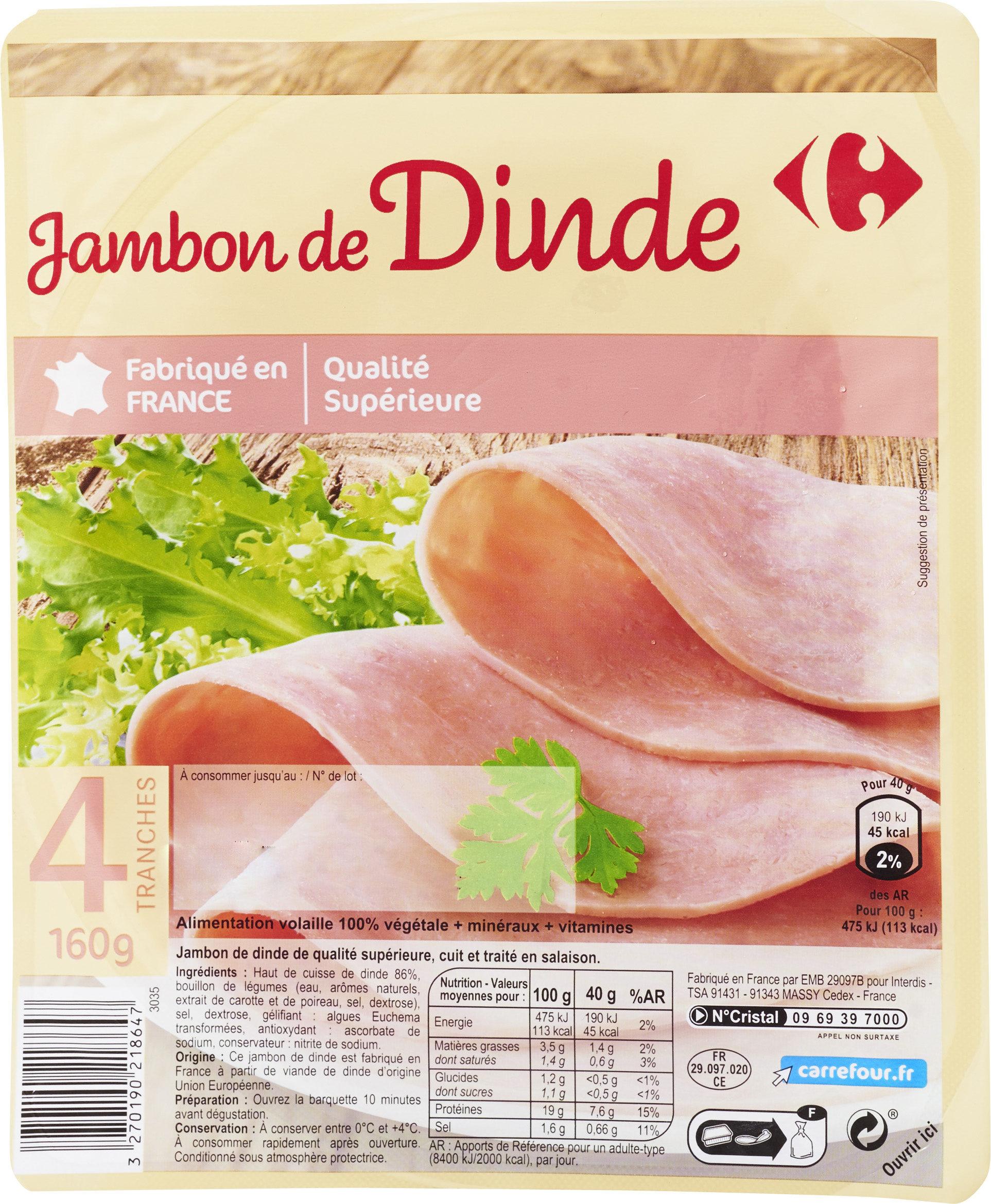 Jambon de dinde cuit - Produit
