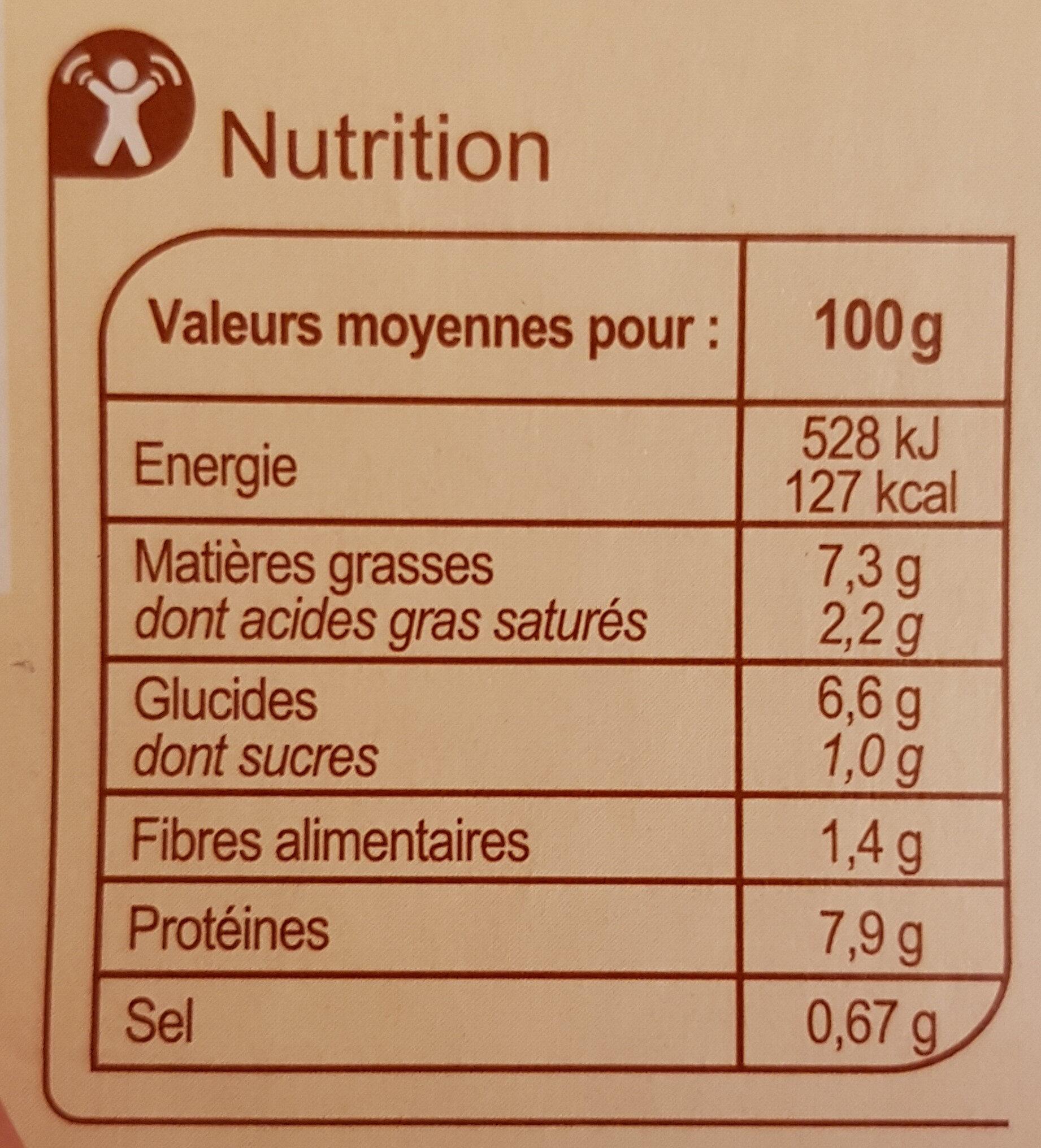 Couscous Poulet Merguez - Nutrition facts - fr