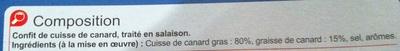 Confit de cuisse de Canard (x 1) - Ingrediënten - fr