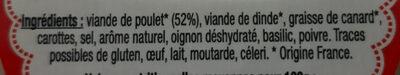 Rillettes de poulet roti en cocotte - Ingredienti - fr