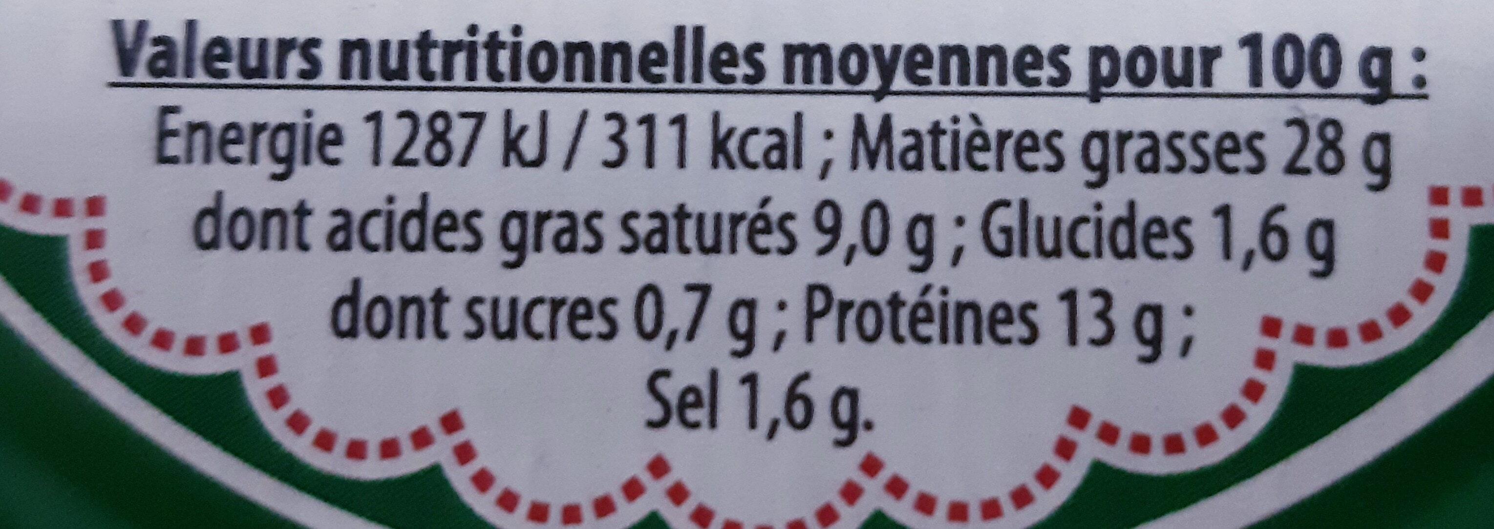 Pâté de campagne Bio - Informations nutritionnelles - fr