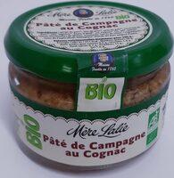 Pâté de campagne au cognac Bio - Produit - fr