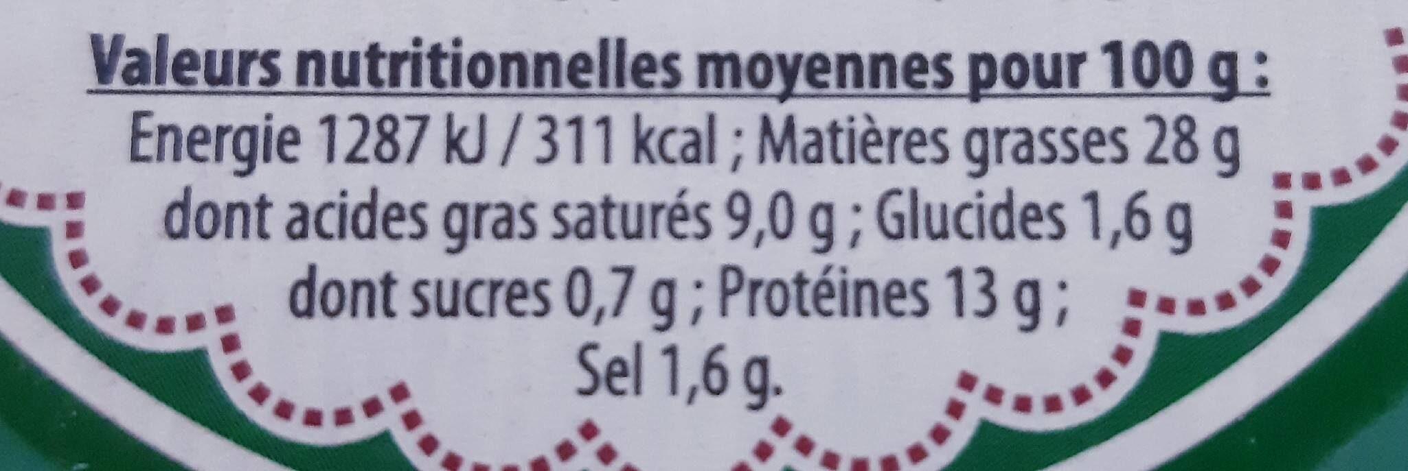 Pâté de campagne au cognac Bio - Informations nutritionnelles - fr