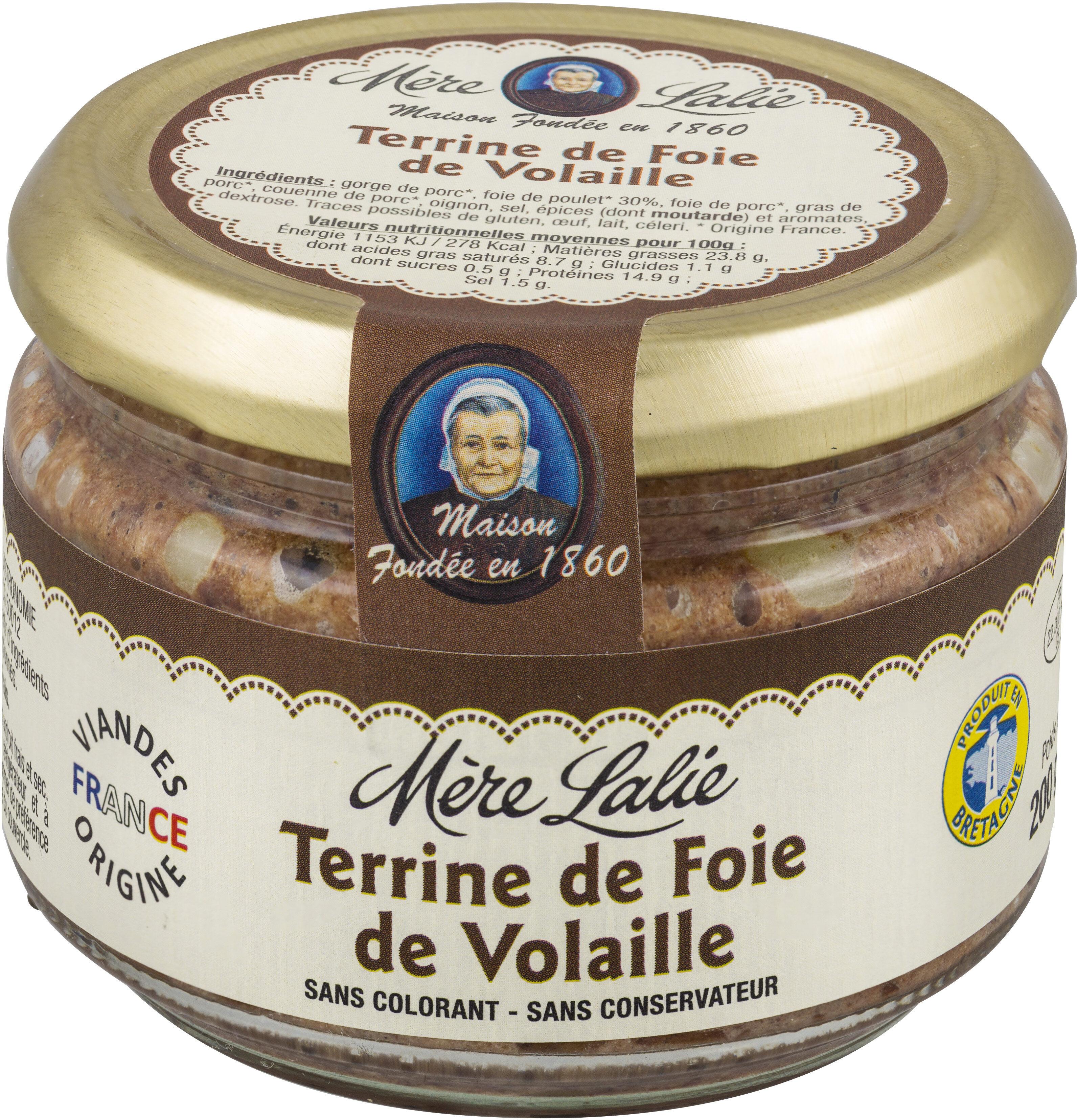 Terrine de Foie de Volaille 180g Mère Lalie - Product - fr