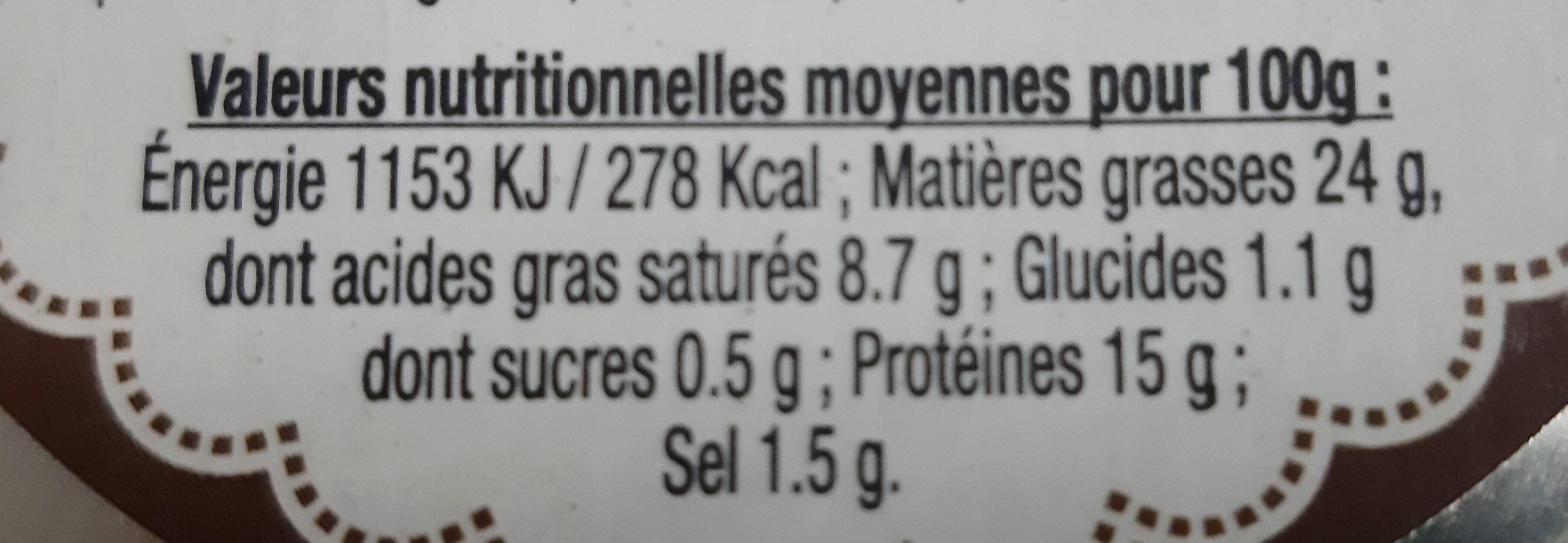 Terrine de Foie de Volaille 180g Mère Lalie - Nutrition facts - fr